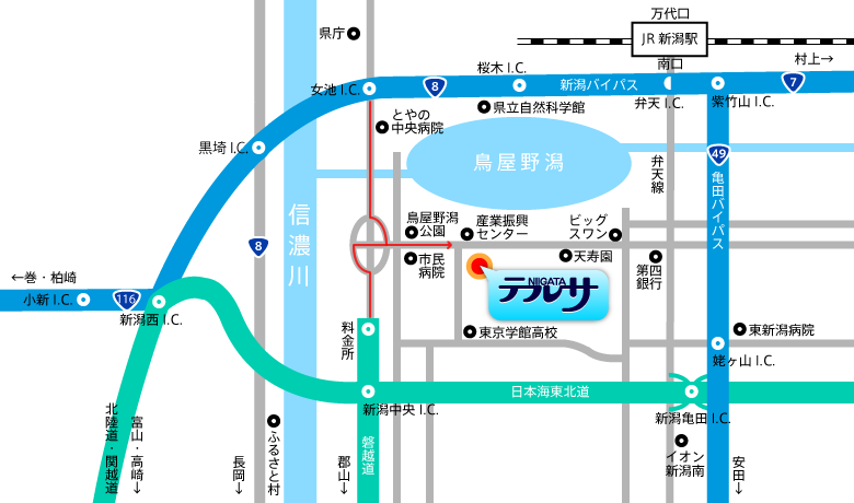 新潟テルサ アクセスマップ